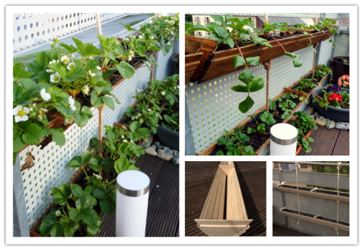 How to make DIY vertical container strawberry planter step by step tutorial instructions