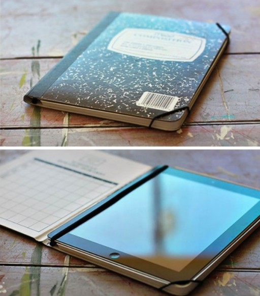 How to turn a composition notebook into an ipad cover step by step DIY tutorial instructions 2