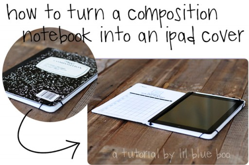 How to turn a composition notebook into an ipad cover step by step DIY tutorial instructions