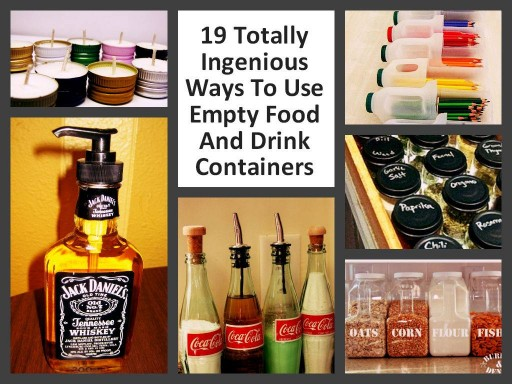19 Ingenious Ways To Re-use Empty Food And Drink Containers