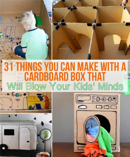 31 Mind-blowing DIY projects With Cardboard Boxes