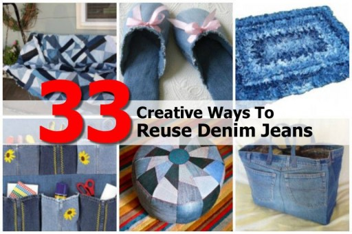 33 Creative Wasy to Reuse Denim Jeans