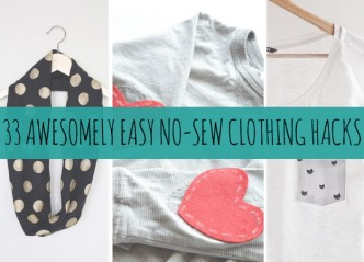 Awesome DIY Easy No Sew Clothing Hacks