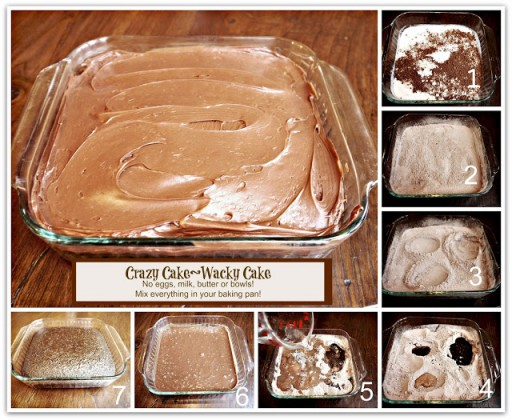 Crazy Chocolate Cake Without Eggs, Milk Butter, or Bowls Recipe