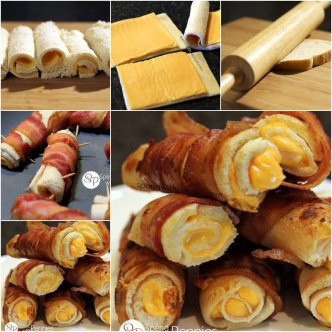 Culinary School - How To Cook Crispy Bacon Grilled Cheese Rolls Step By Step DIY Tutorial Instructions