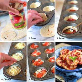 Culinary School - How To Make Mini Tortilla Pizzas Step By Step DIY Tutorial Instructions