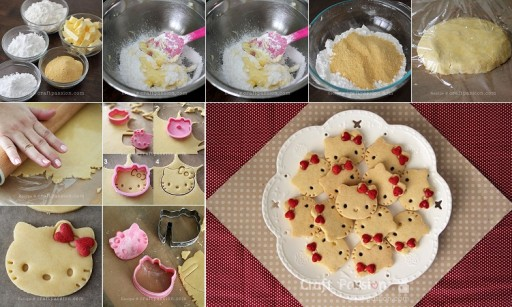 DIY Hello Kitty Cookie Recipe & Instructions