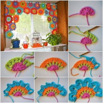 How To Crochet Flower Power Valance Step By Step DIY Tutorial & Free Patterns