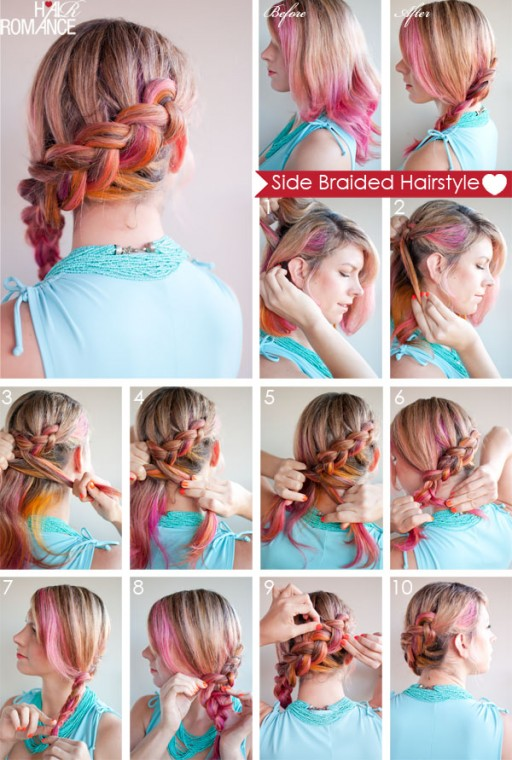 How to do side braided hairstyle step by step diy tutorial