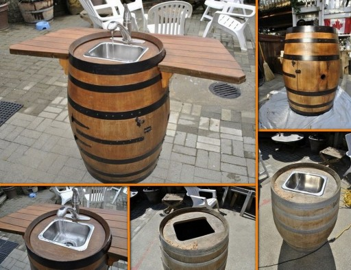 How To Make A Wine Barrel Sink Step By Step DIY Tutorial Instructions