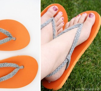 How To Make Braided Strap Flip Flops Step By Step DIY Tutorial Instructions