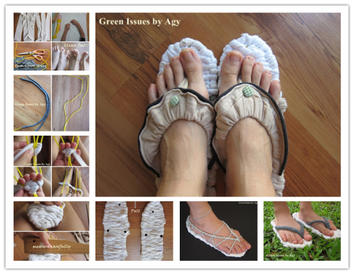 How To Make DIY Slippers With Recycled T-shirts 2