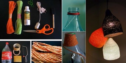 How To Make Designer Paper Yarn Lamp Step By Step DIY Tutorial Instructions