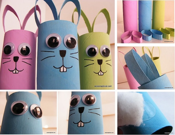 How To Make Easy Toilet Paper Roll Bunnies Step By