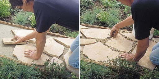 How To Make Flagstone Garden Path Step By Step DIY Tutorial Instructions 4