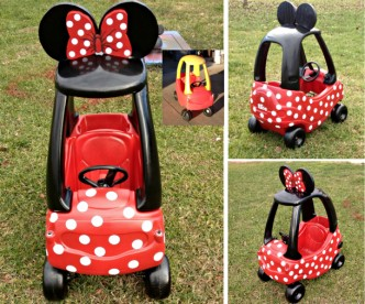 How To Make Minnie Mouse Car Step By Step DIY Tutorial Instructions