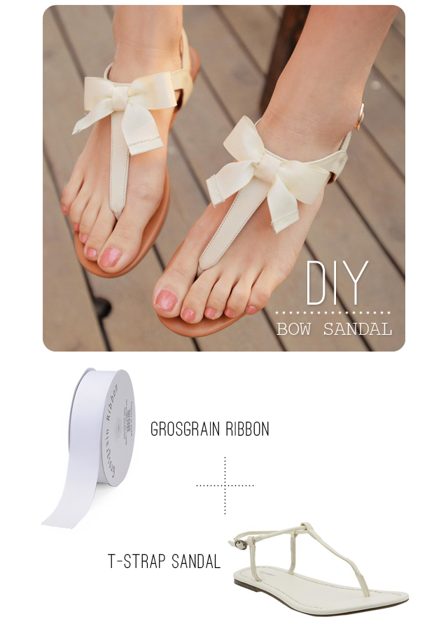 How To Make Simple & Beautiful DIY Bow Sandals