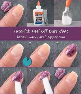 How To Peel Off Nail Base Coat Step By Step DIY Tutorial Instructions