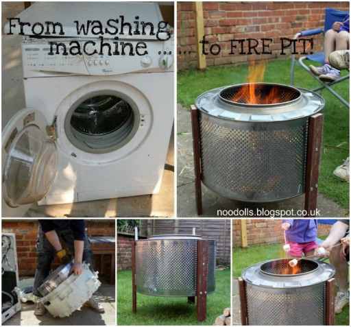 How To Upcycle Washing Machine Drum Into A DIY Fire Pit