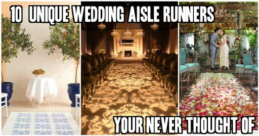10+ Unique Wedding Aisle Runners Your Never Thought Of