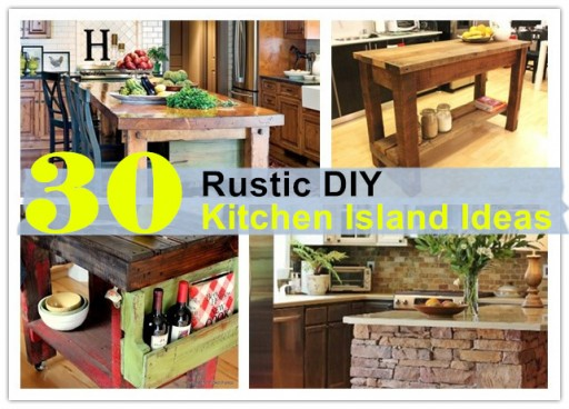 30 Rustic DIY Kitchen Island Ideas  How To Instructions