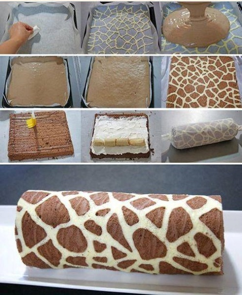 DIY Giraffe Swiss Roll Recipe