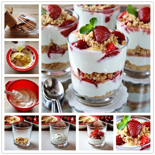 Delicious Strawberry Cheesecake Parfaits Recipe
