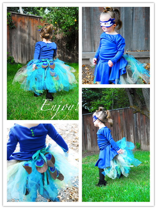 How To Make A Cute DIY Peacock Tutu 2