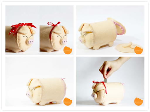How To Make Cute Piggybank Step By Step DIY Tutorial Instructions
