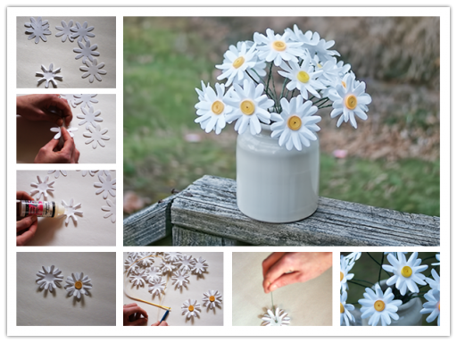 How To Make Easy Paper Daisies Step By Step DIY Tutorial Instructions