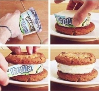 How To Make Perfect Ice Cream Sandwich Step By Step DIY Tutorial Instructions