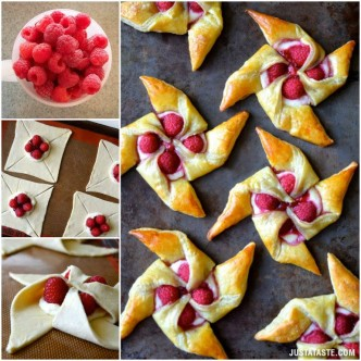 How To Make Raspberry Cream Cheese Pinwheel Pastries Step By Step DIY Tutorial Instructions