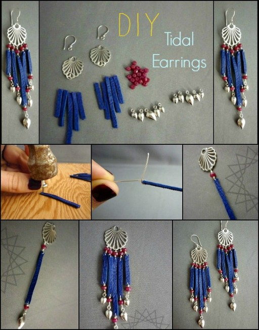 How To Make Tidal Earrings Step By Step DIY Tutorial Instructions