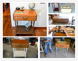 How To Re-purpose A Suitcase Into A Table Step By Step DIY Tutorial Instructions