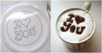Make Easy DIY Coffee Stencil