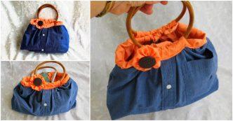 Upcycle Men's Shirt Into Handbags