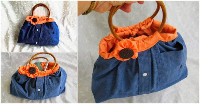 Upcycle Men's Shirt Into Handbags