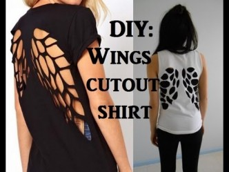 How To Make DIY Cut Out T-shirt