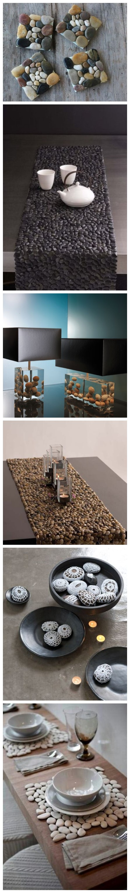 28 Ideas To Incorporate Pebbles Into Your HOme Decoration 3