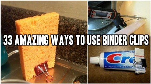 33 Amazing Ways To Use Binder Clips