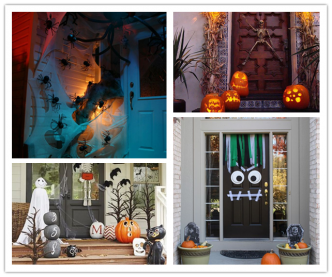 36 Spooky Halloween Front Door Decor Ideas
