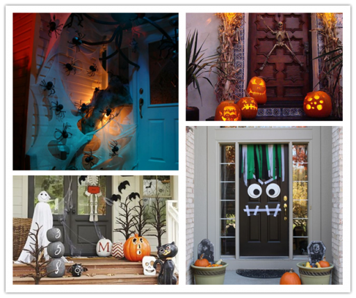 36 Spooky Halloween Front Door Decor Ideas