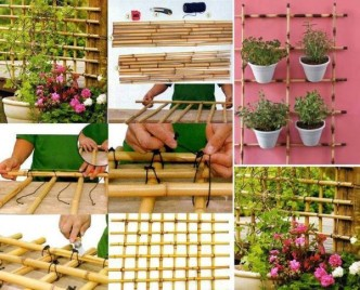 How To Make A Bamboo Trellis Step By Step DIY Tutorial Instructions