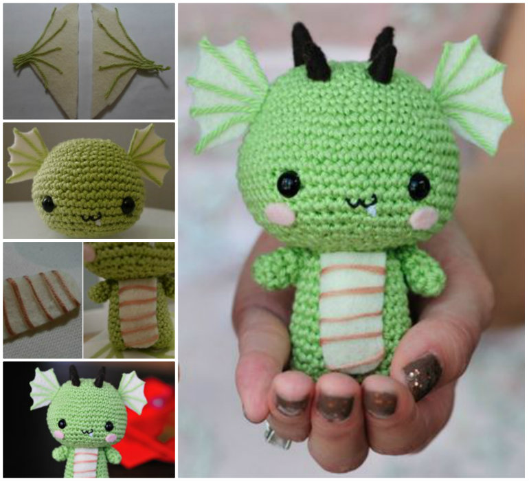 How To Make Crochet Dragon Step By Step DIY Tutorial Instructions ...