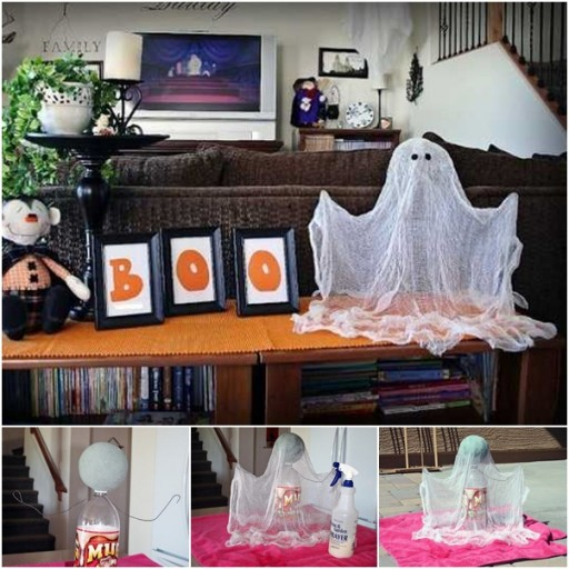 How To Make Floating Ghosts Step By Step DIY Tutorial Instructions