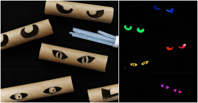 How To Make Glowing Eyes From Toilet Paper Rolls