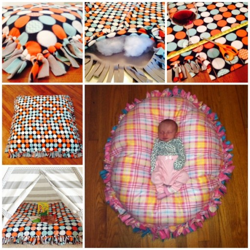 How To Make No Sew Floor Pillow How To Instructions