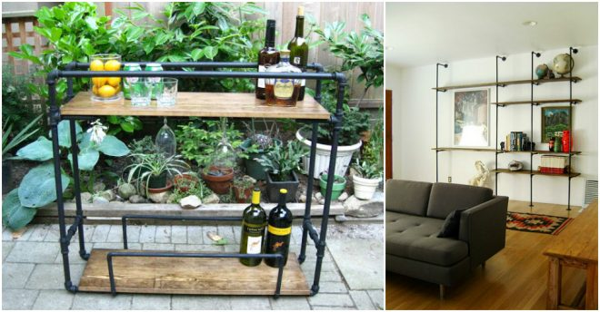 How To Make Pipe Bar Cart