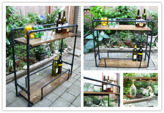 How To Make Pipe Bar Cart Step By Step DIY Tutorial Instructions