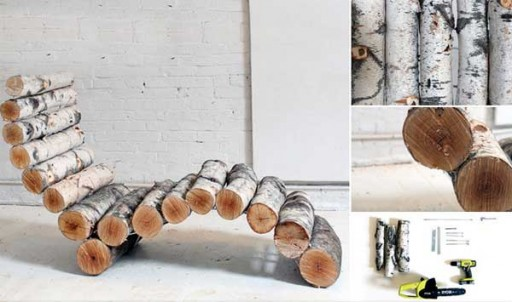 How To Make Rustic Log Lounger Step By Step DIY Tutorial Instructions